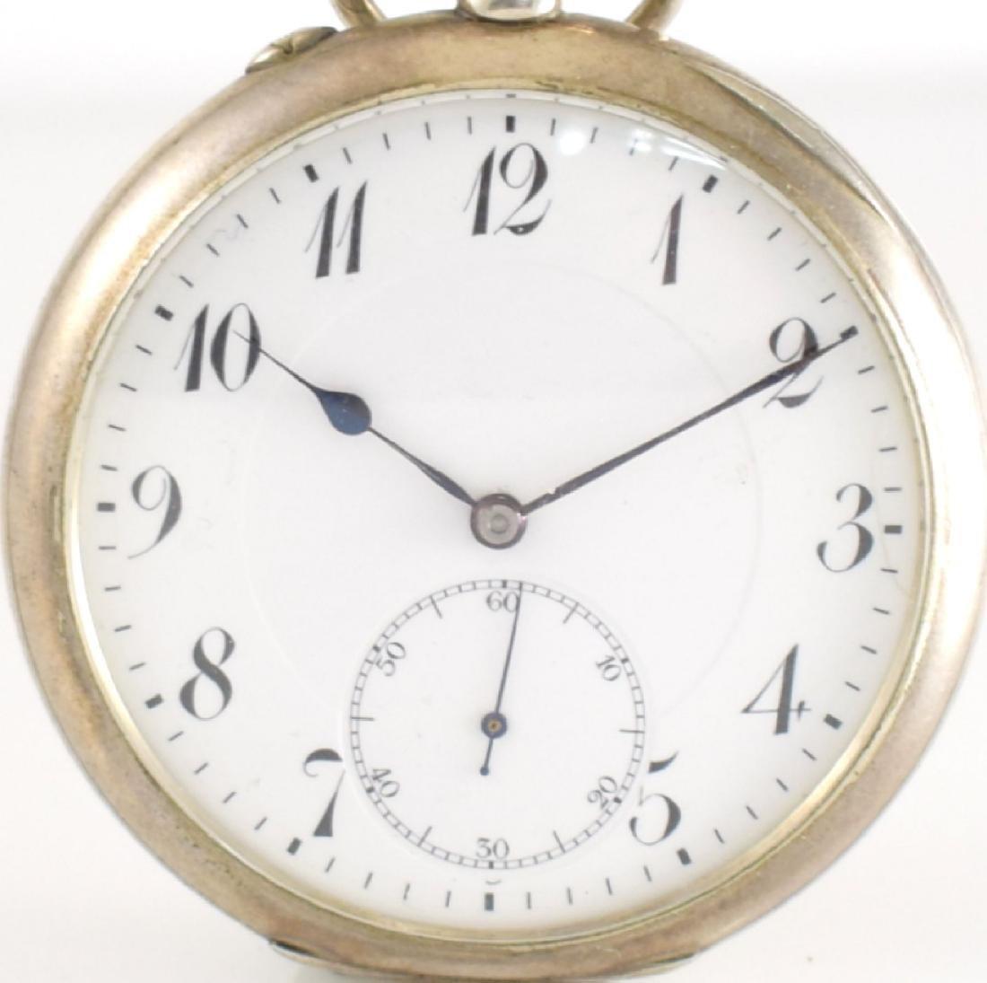 IWC open face pocket watch in silver - 2
