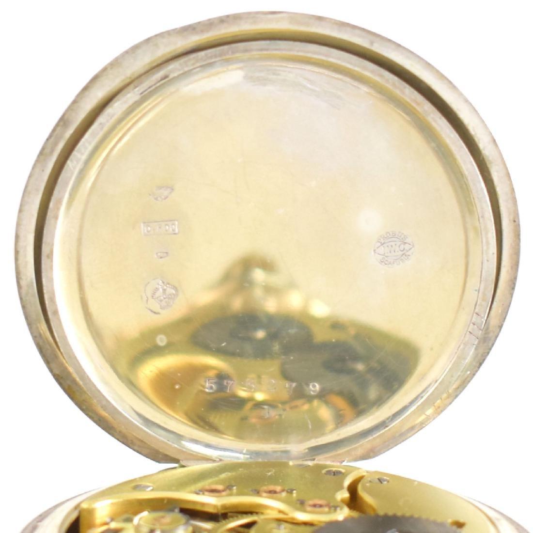 IWC open face pocket watch in silver - 8