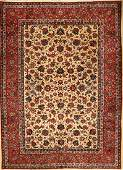 Esfahan carpet, Persia, approx. 60 years, woolon cotton