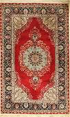 Esfahan rug fine, China, approx. 30 years, wool on