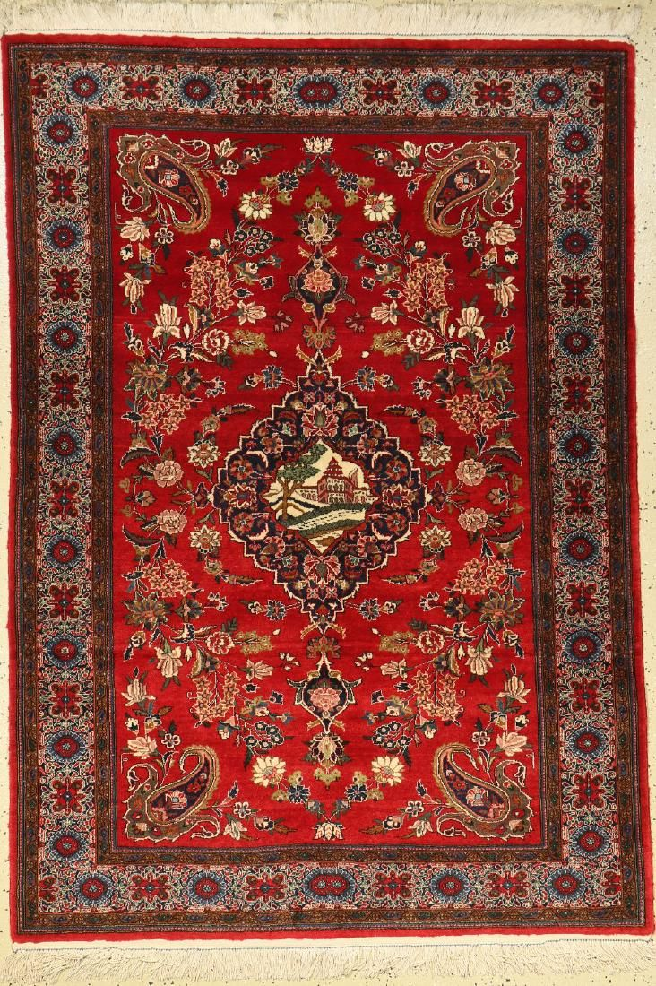 Keschan rug, China, approx. 30 years, wool on cotton