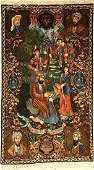 Tabriz pictorial rug fine, Persia, approx. 40 years,