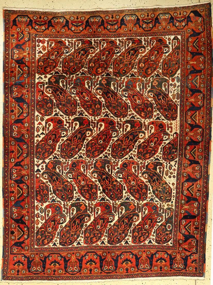 Afshar rug old, Persia, around 1910/1920, woolon cotton