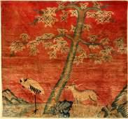 Beijing rug, China, around 1900, wool on cotton