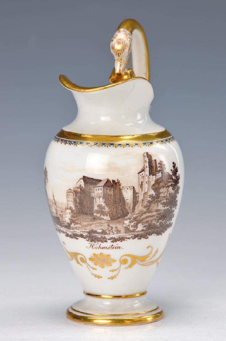 milk jug, Meissen, Middle of 19th c., transferring