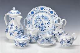 coffee set for 9 people, Meissen, 2. H. 20. thc., blue