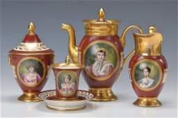 coffee set, France, after model of Imp. Sevres
