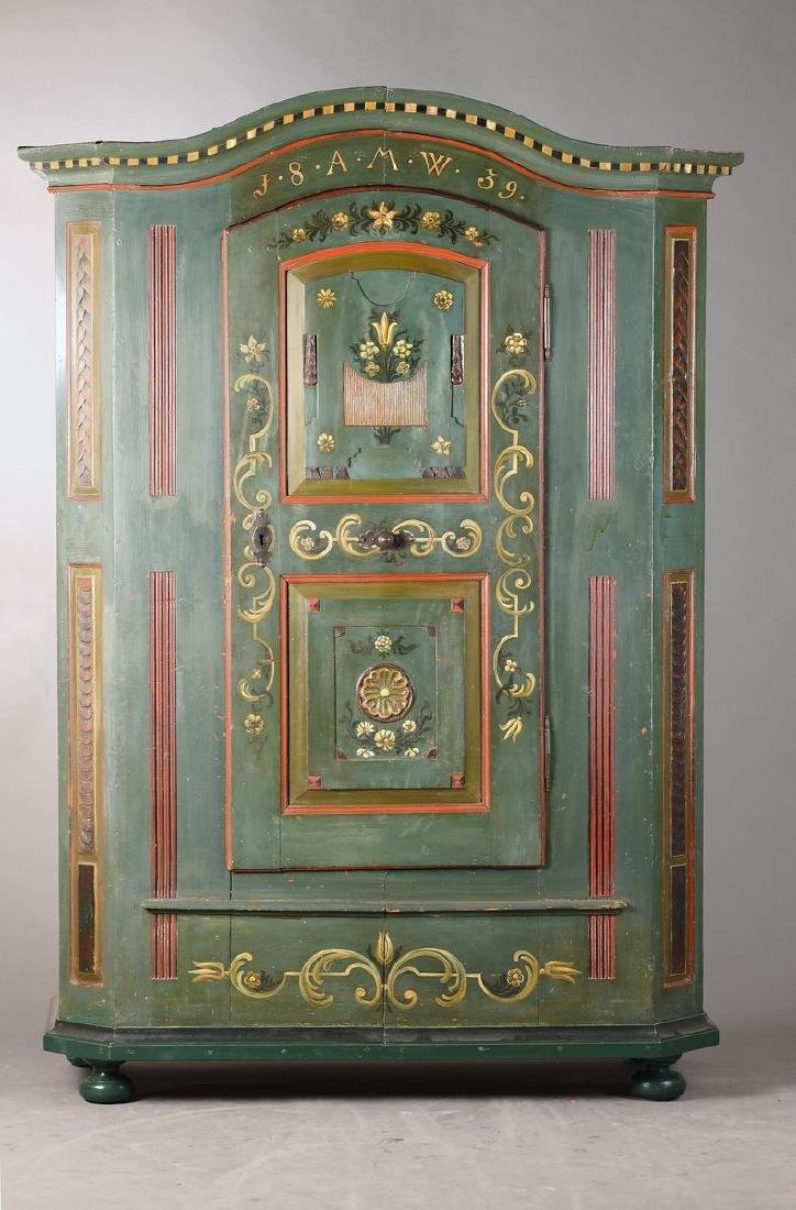 peasant cupboard/wedding cupboard, Black Forest, dat