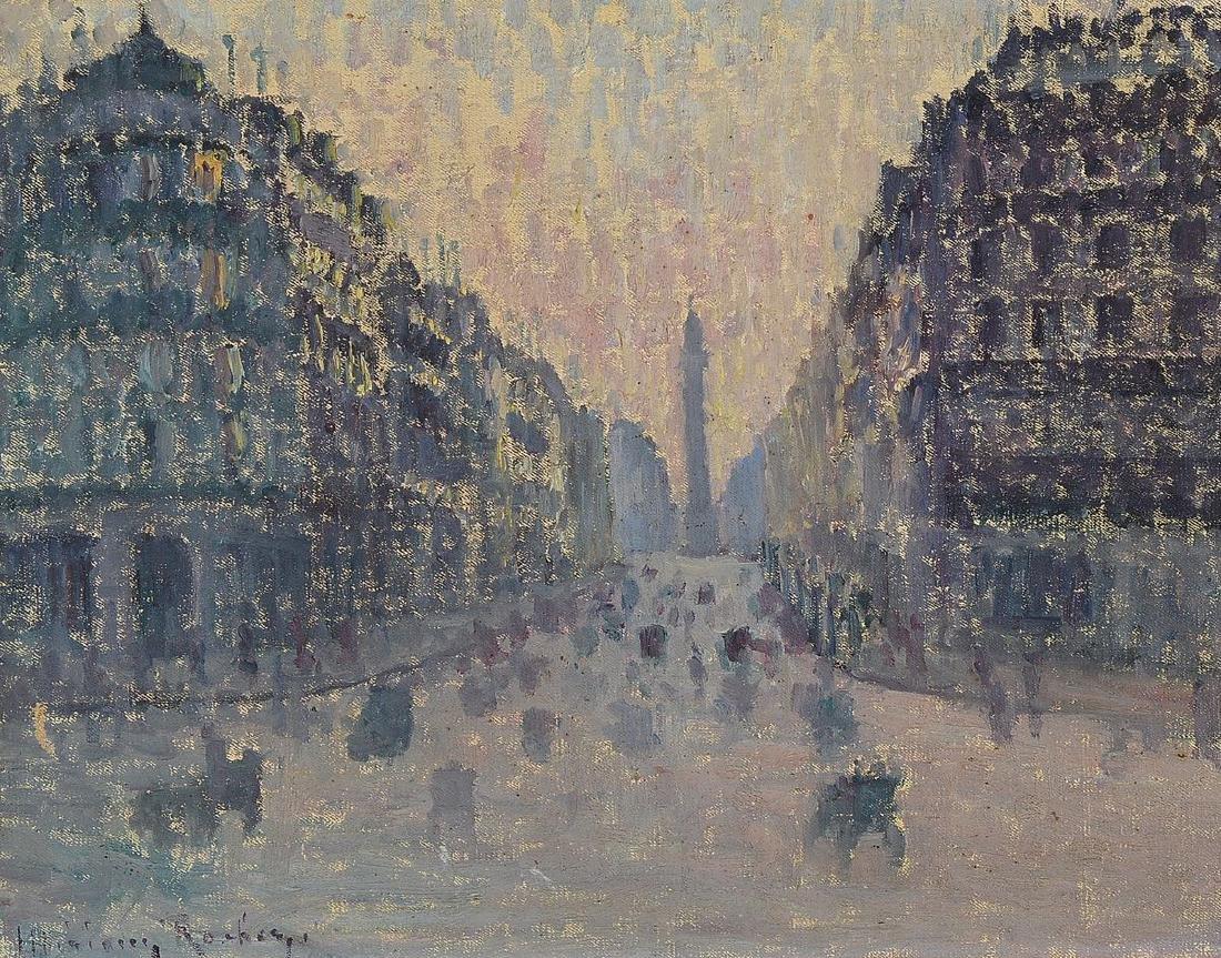 Unidentified artist, France, around 1920, Viewfrom