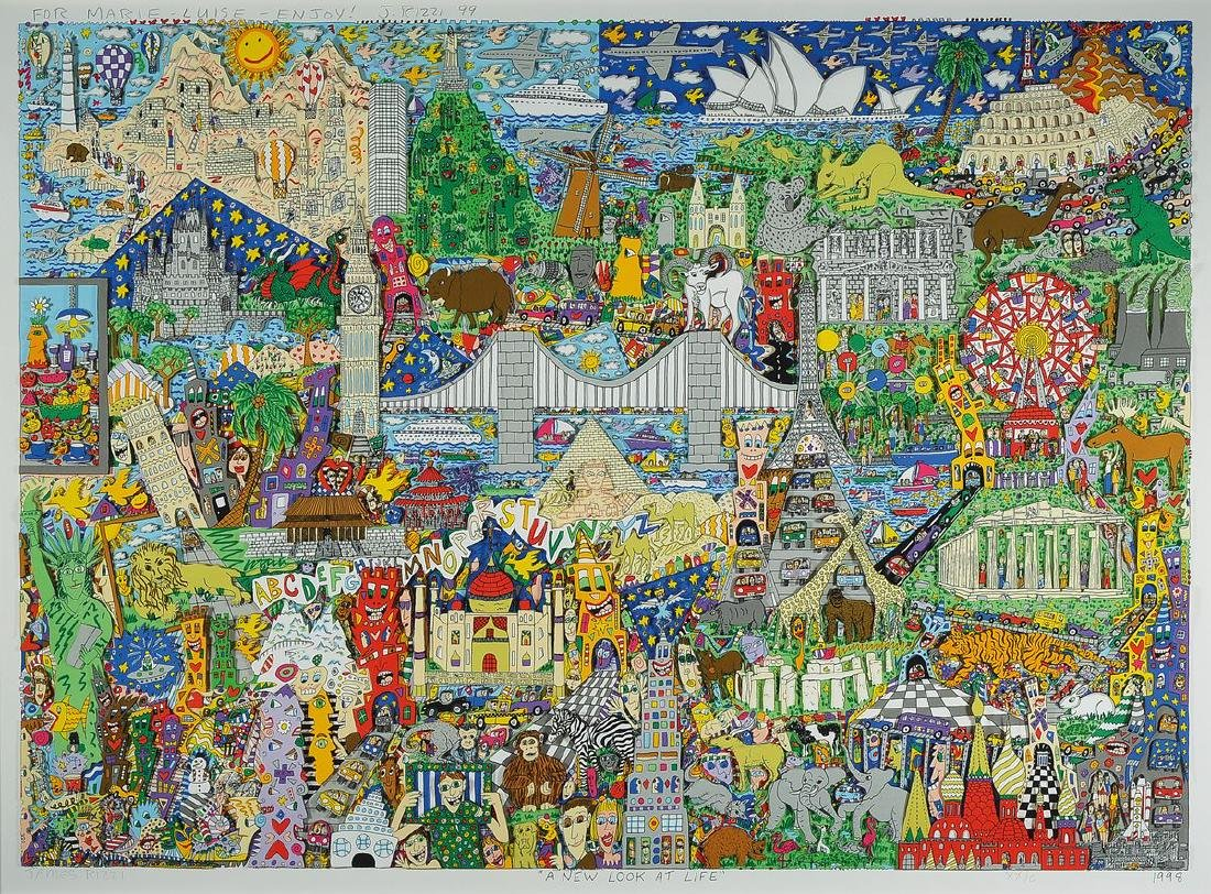 James Rizzi, 1950-2011 New York, A new Look atlife, 3-D