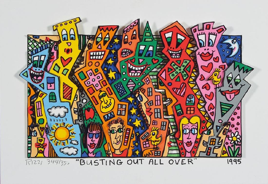 James Rizzi, 1950-2011, Busting out all over