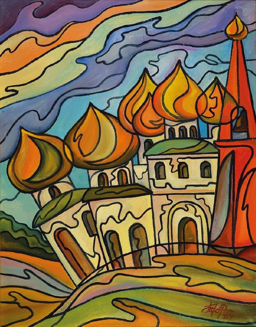 Witaly Tchorshewsky, born 1949 Moskau, Golden cupolas,