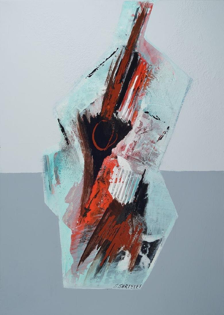 Silvia Sartelet, born 1947 Berlin, abstract composition