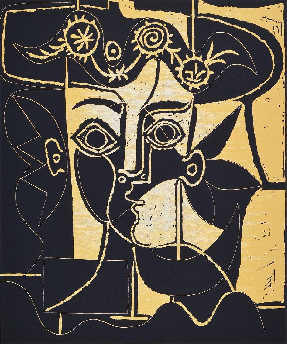 Pablo Picasso, 1881-1973, Femme au Chapeau Orné, color