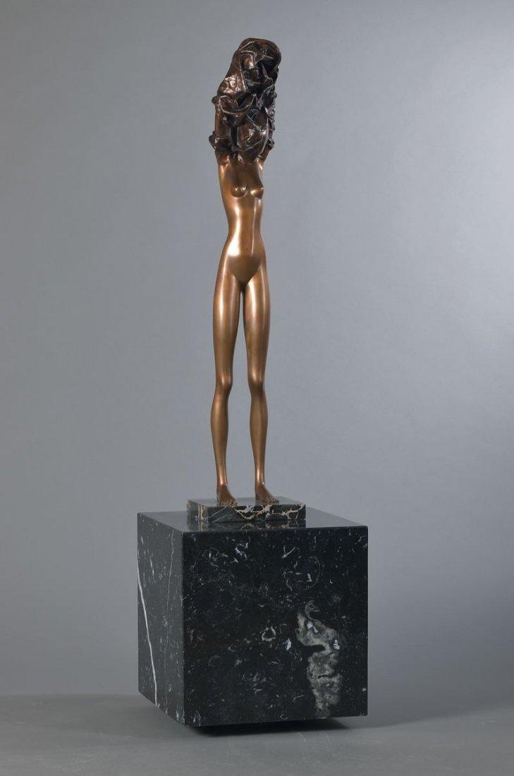 Bruno Bruni, born 1935 Gradara, La Divina on big granit