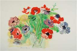 Raoul Dufy, 1877-1953, color lithograph on hand-made