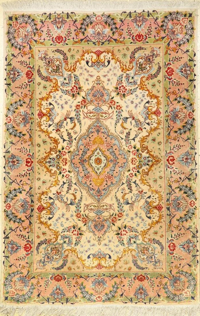 Fine Tabriz 'Part-Silk' Rug,