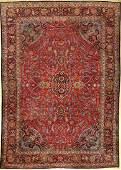 Fine & Rare Kurk Kashan Carpet,