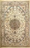 Fine Nain 'Habibian' (Part-Silk) Carpet (6LA) 'Signed',