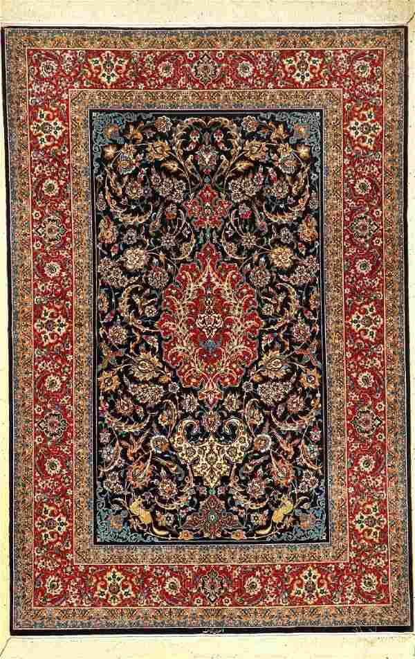 Very Fine Isfahan 'Ghanaet' (Part-Silk) Rug