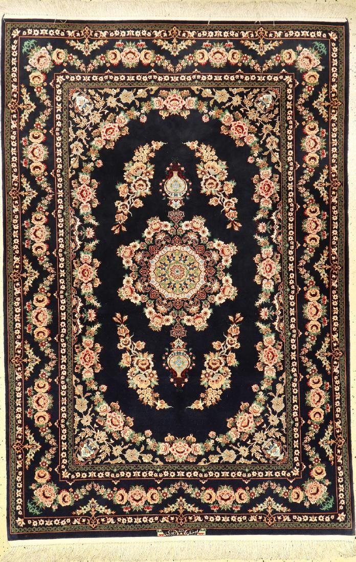 Fine Isfahan 'Davari' (Part-Silk) Rug (Signed),