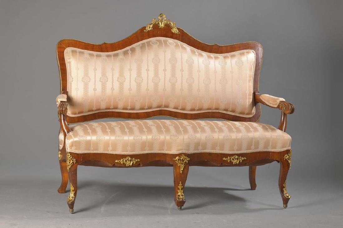 sofa, France, around 1900, after baroque model