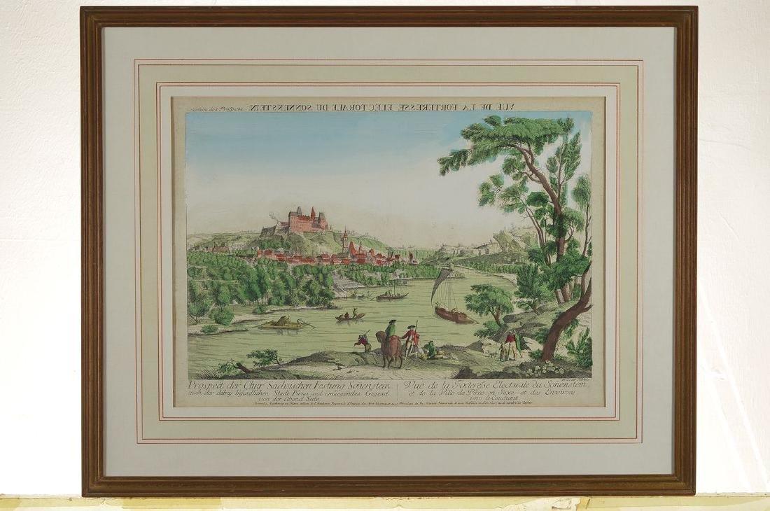 Two peep-box pictures / engravings, Johann Christoph - 2