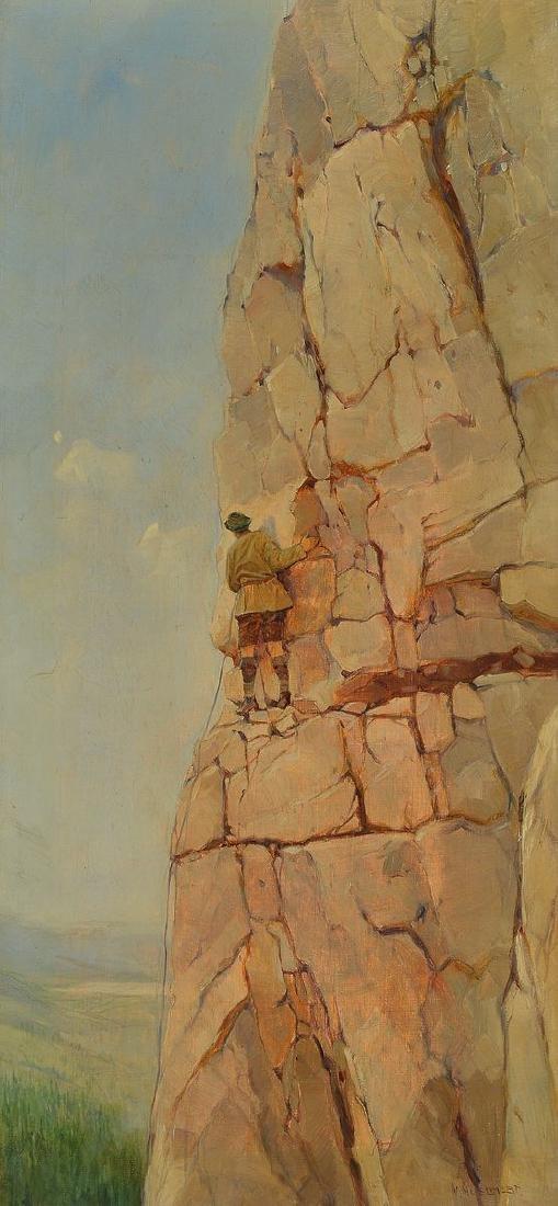 W. Huschert, German painter of the first half of the