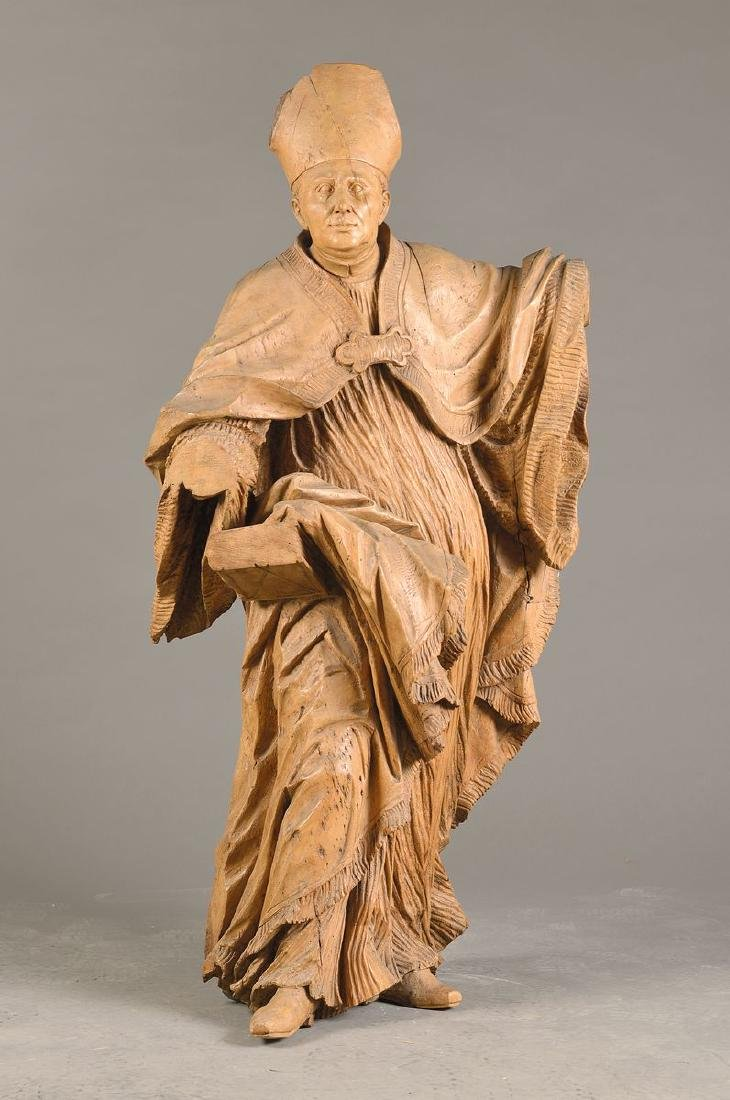 Sculpture of a bishop, Southern Germany or Bohemian