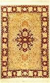 Fine Silk & Metal-Thread Hereke Rug 'Safavid Polonaise