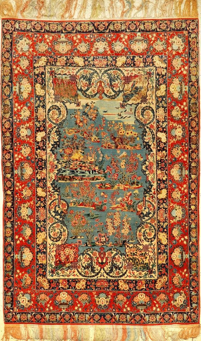 Very Fine & Unique 'Part-Silk' Isfahan 'Haj Agha Reza