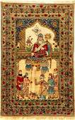 Fine Kirman 'Ravar' Pictorial Rug (Shah Houshang),
