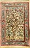 Fine & Rare White Ground Isfahan 'Ahmad' (Part-Silk)