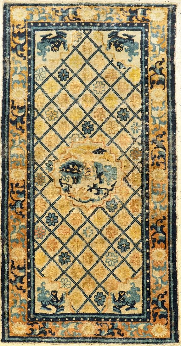Important & Rare Early Ningxia 'Ceremonial Rug' (Snow