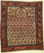 Very Fine & Rare Shirvan 'Prayer Rug' (With Silk &