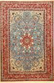 Fine Sky-Blue Isfahan 'Khodazad' Carpet (Signed),