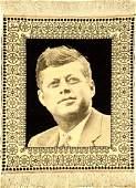 Fine Tabriz 'Ziai' Pictorial Rug (John F.Kennedy)