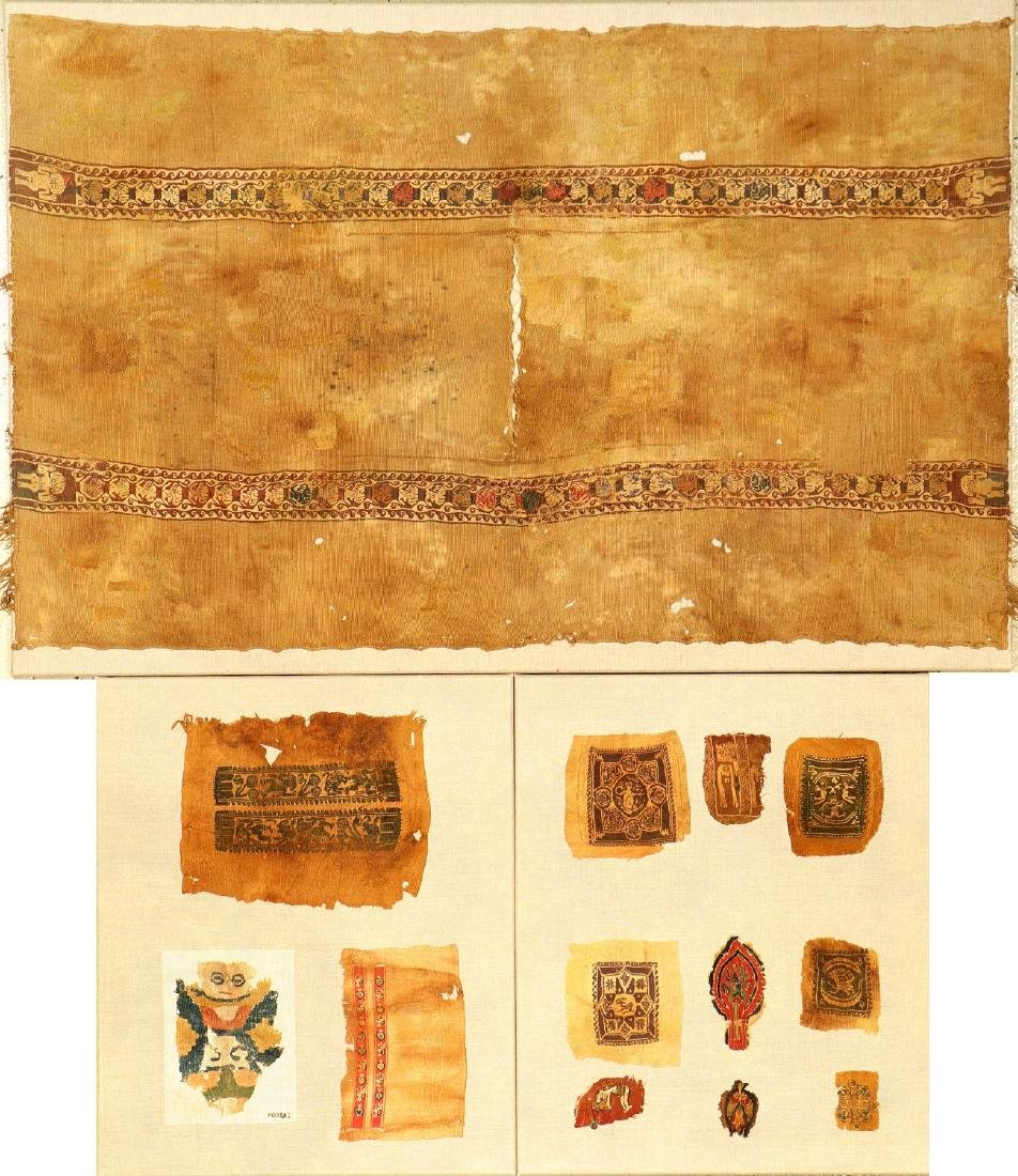 (3 Lots) 13x Rare Early Coptic 'Textile- Fragments',
