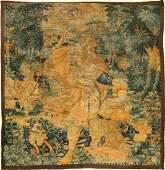 Flemish 'Feuilles De Choux' Tapestry (Fragment),