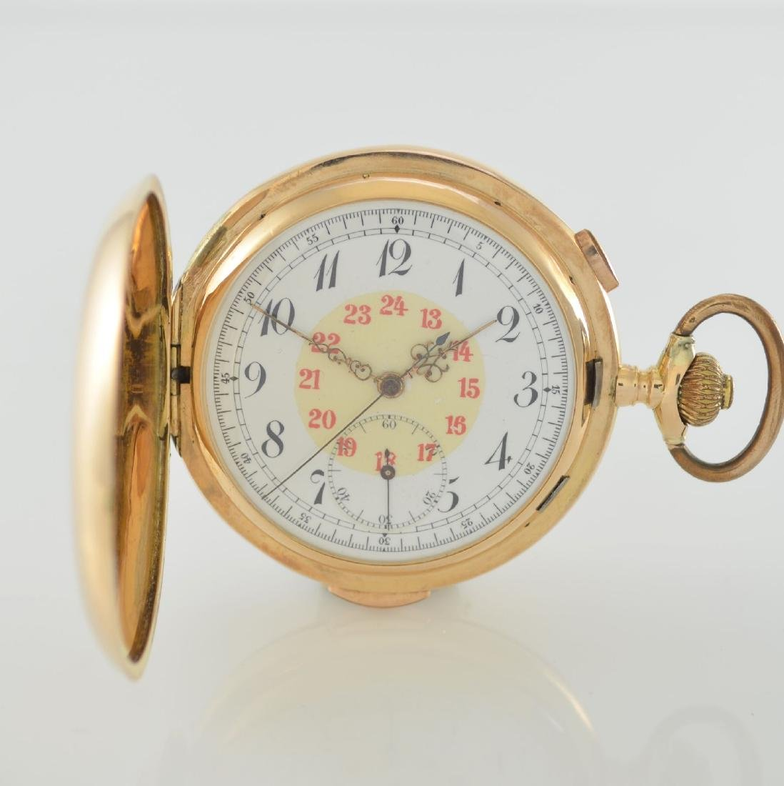 14k pink gold pocket watch with 1/4 repetition