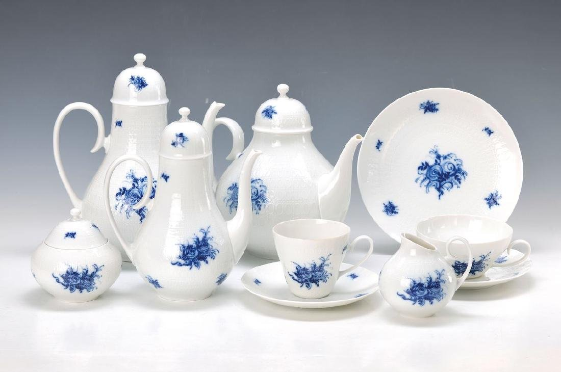 coffee- and tea set, Rosenthal, Model Romanze in blue