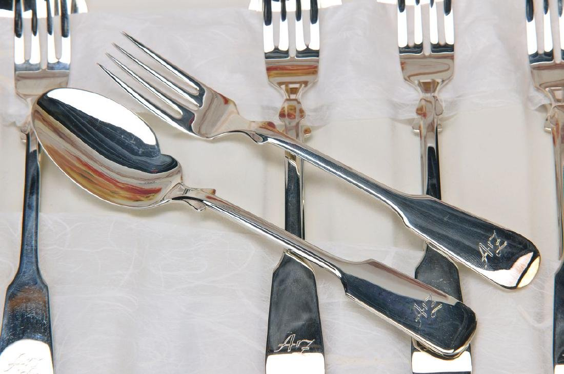 Gourmet-Set, Robbe & Berking, 150er silver plated, 6