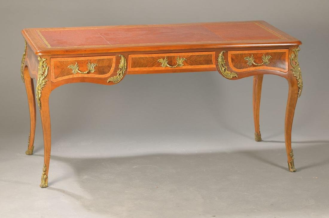 Bureau Plat, period furniture, 2. Half 20.th c.,