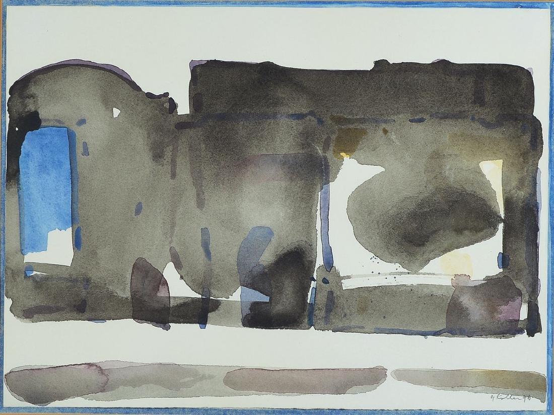 Oskar Koller, 1925-2004, watercolor on paper, signed