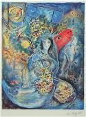 Marc Chagall18871985 lithograph print sign
