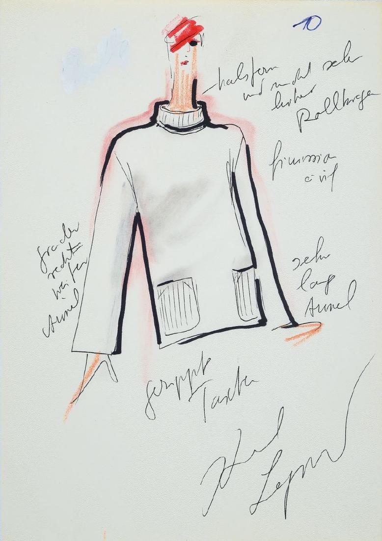 Karl Lagerfeld, 1933-2019, convolute of 2 fashion