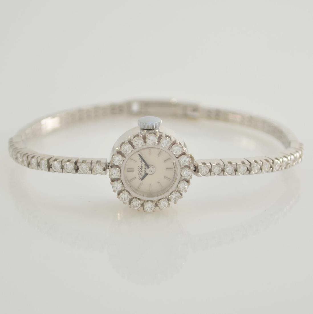 CHOPARD 18k white gold diamond set ladies wristwatch