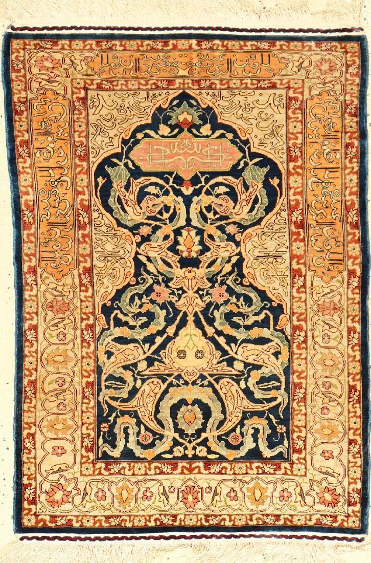 Silk Hereke Rug,