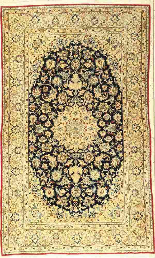 Fine Nain Tudeshk 'Part-Silk' Rug,