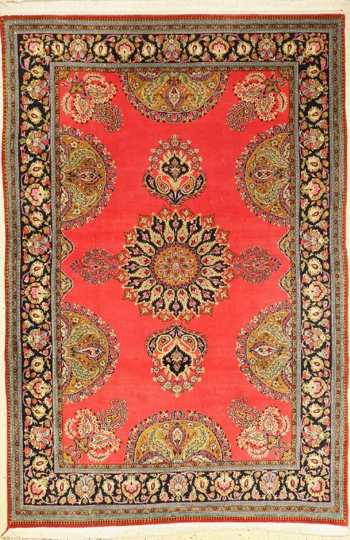 Kurk Qum 'Part-Silk' Rug,